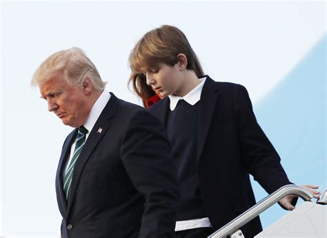 barron trump melania attend private lady son donald md president episcopal maryland current youngest father march beach 40k tuition per