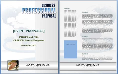 event proposal template  formats excel word