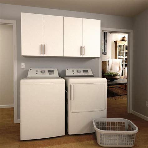 home depot laundry cabinets modifi madison 60 in w mocha open shelves laundry cabinet
