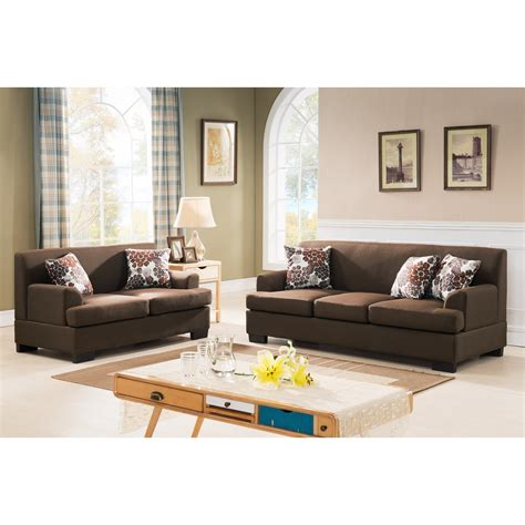 Container Modern Fabric 2 Piece Sofa And Loveseat Set