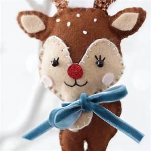 Personalised, Reindeer, Christmas, Tree, Decoration, By, Miracami, Studio