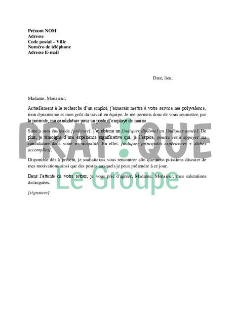 lettre de motivation employé de bureau modele lettre de motivation pour emploi espace vert en