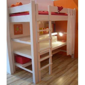 lit surélevé avec bureau intégré lit pour enfant sureleve junior de breuyn 90x200 avec