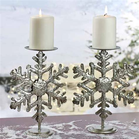 snowflake candle holders silver metal snowflake candle holders table decor