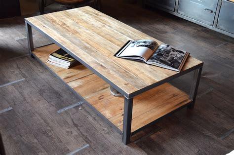 Table basse bois de palette sur mesure - MICHELI Design