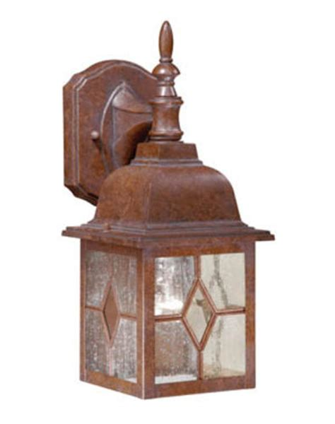 1 light 13 75 quot rustic brown outdoor wall light at