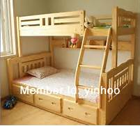 New Style Triple Bunk Bed Solid Wooden Bunk Bed For Kids In Wood Beds Dream On Me Mission Collection Style Toddler Bed With Storage Drawer Various Types Of Children S Beds South Shore Furniture Baby Kids Kids 39 Furniture Kids 39 Beds Bedroom Sets