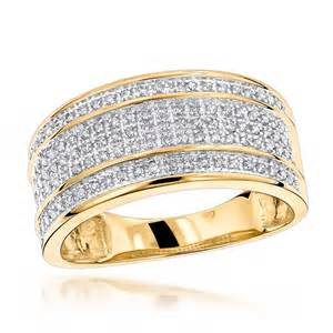 gold wedding rings mens unique wedding bands 10k gold 5 row ring for