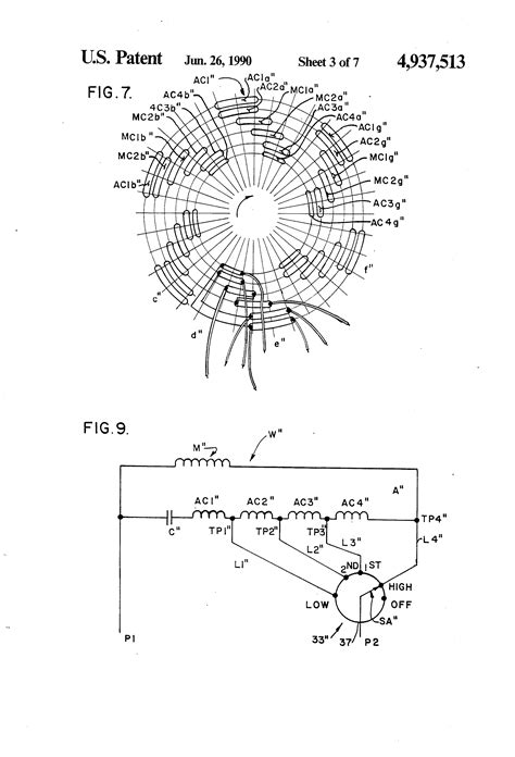 patent  tapped auxiliary winding  multi