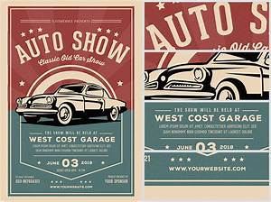 Old Classic Car Show Flyer Template - FlyerHeroes