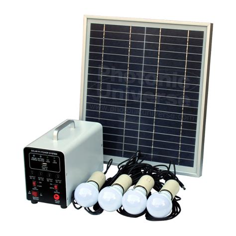 15w Off Grid Solar Lighting System With 4 Led Lights Solar