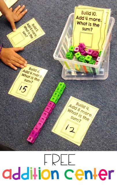 More Math Stations And An Addition Freebie!  New Teachers  Pinterest  Math, Kindergarten Math