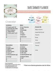 Finest Expressions: Baby Shower Planner/Checklist