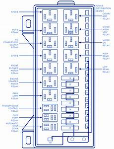 Oldsmobile Cutlass 2 8l 1989 Under Dash Fuse Box  Block Circuit Breaker Diagram