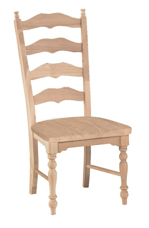 unfinished maine ladderback chair w wood seat built two