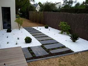 Comment Blanchir Du Bois : faire une terrasse en gravier blanc veranda ~ Melissatoandfro.com Idées de Décoration