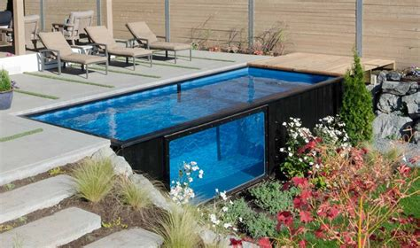 container swimming pool take a dip in modpools shipping container swimming pool