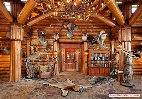 log home decorating    grand scale