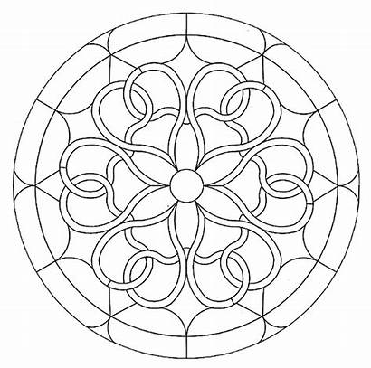Coloring Patterns Pages Stained Glass Mandala Pattern