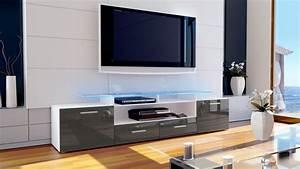 Tv Board Hochglanz Weiß : tv lowboard board schrank tisch m bel almada v2 in wei hochglanz naturt ne ebay ~ Bigdaddyawards.com Haus und Dekorationen