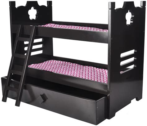 american girl doll bunk bed  trundle doll