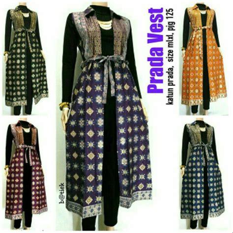 jual p da vest outer batik rompi batik panjang di lapak batikfara batikfara