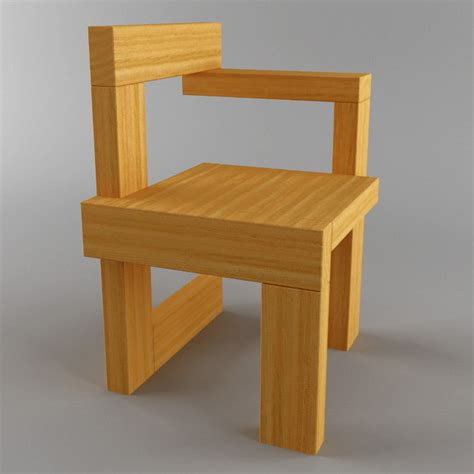 sedia 3d 3d steltman chair model
