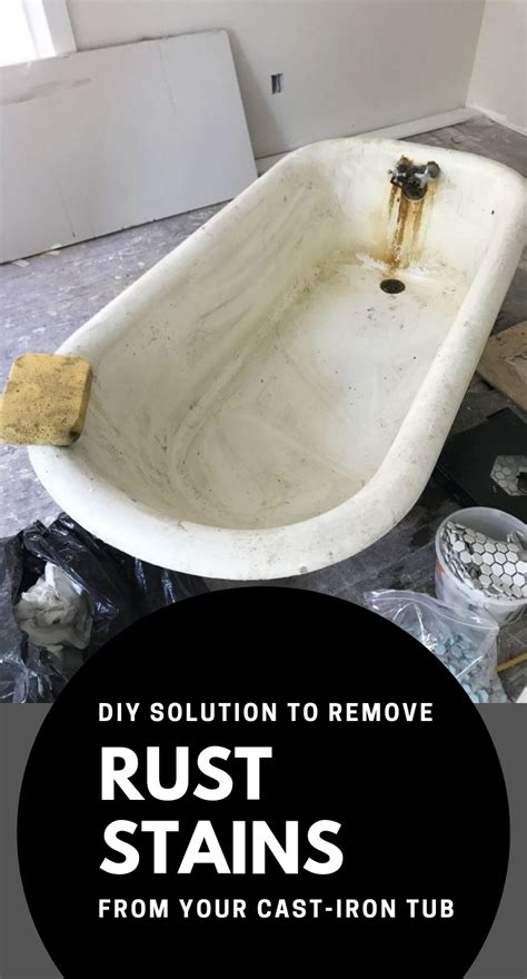 iron cast rust tub remove solution stains cleaning xcleaning advertisements