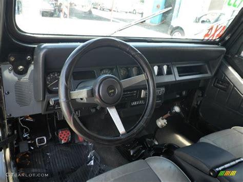 interior jeep wrangler grey interior 1991 jeep wrangler s 4x4 photo 69822472