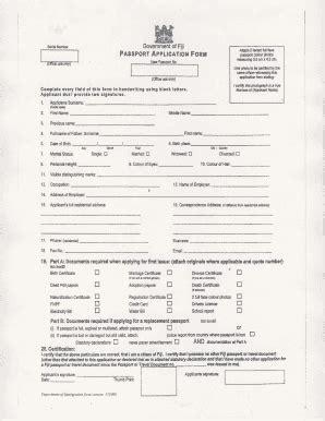 fill fiji passport renewal form fill