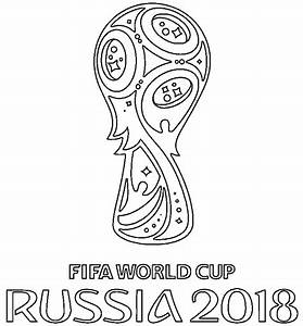 Official Logo Of World Cup 2018 Coloring Page Free
