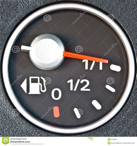 Car Dash Board Petrol Meter Cartoon Vector