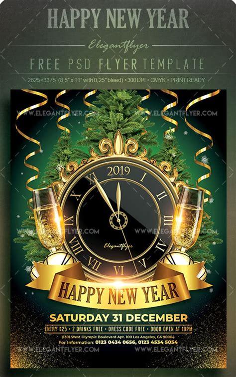 New Year Celebration Promotional Flyer Mockup Download ...