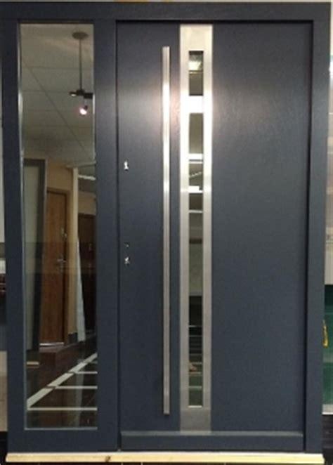 model  modern grey finish wood exterior door  side panel modern home luxury