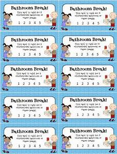 eberopolis teaching reading and writing with technology With bathroom pass punch card