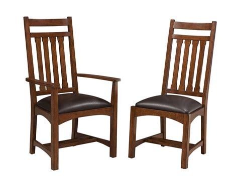oak park narrow slat cushioned side chair