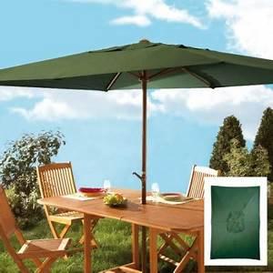 Grand Parasol Rectangulaire : parasol manivelle rectangulaire acheter d coration mobilier de jardin l 39 homme moderne ~ Teatrodelosmanantiales.com Idées de Décoration
