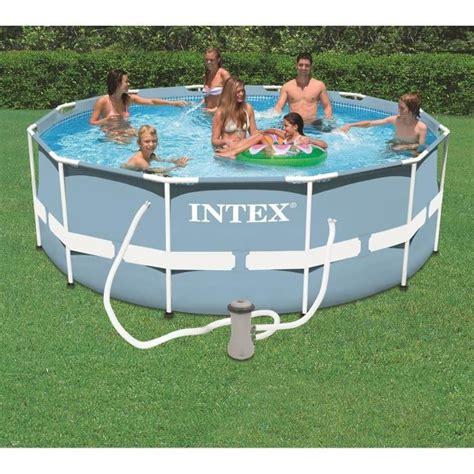 piscine intex tubulaire 3 66 kit piscine tubulaire intex ronde 3 66 x 1 22m achat