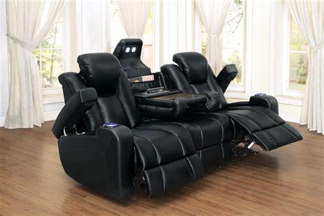 uncategorized reclining sofa with console ashley