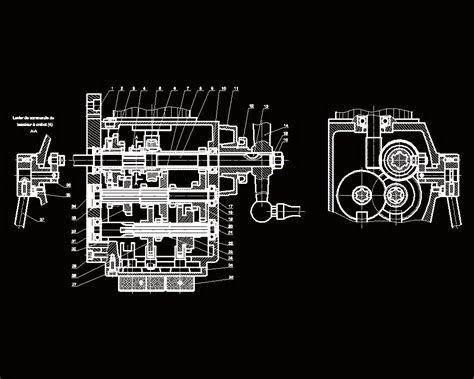 Gearbox Milling 2D DWG Block for AutoCAD • Designs CAD