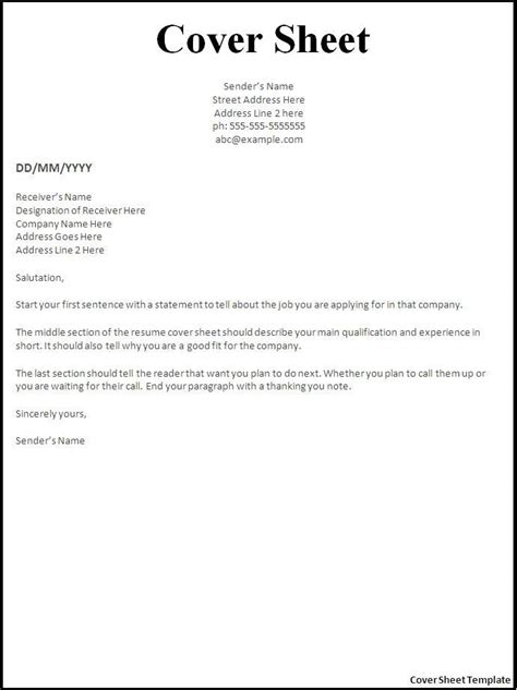 pages cover letter template resume cover pages templates printable fax cover sheet resume template microsoft word
