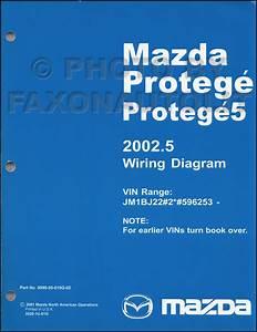 2002 20025 Mazda Protege Wiring Diagram Manual Original