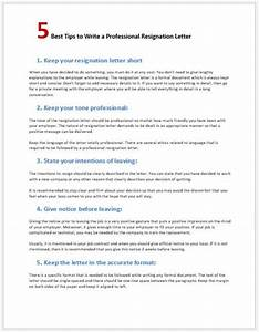 Resignation Letter Format In Word File 5 Tips To Write A Professional Resignation Letter Word