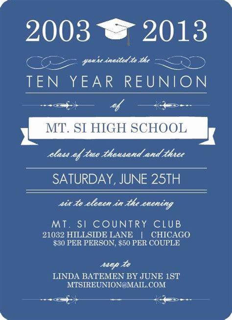high school reunion invitation wording elegant blue banner class reunion invitation class