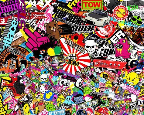 Jdm Sticker Bomb Wallpaper Image Download Stickers Style