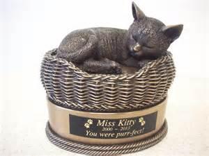 cat urns cat in basket urn bronze cat urns