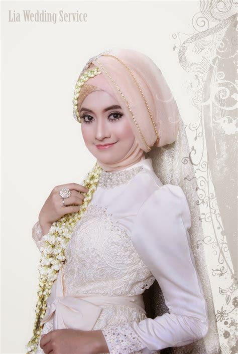 lia wedding akad nikah model hijab hijabi wedding