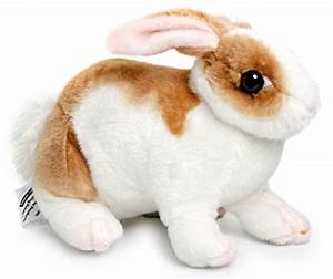 BABY Bunny Soft Plush Rabbit White Fur Stuffed Animal Toy ...
