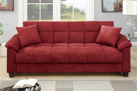 fabric futon sofa bed red fabric sofa bed steal a sofa furniture outlet los