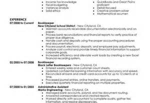 church bookkeeper resume